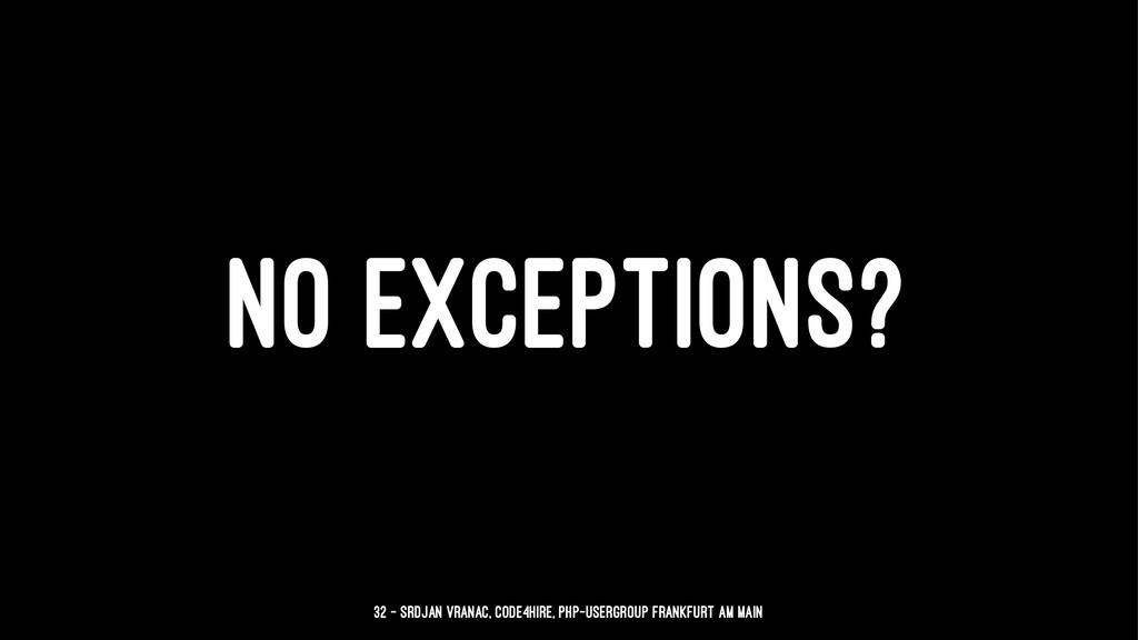 NO EXCEPTIONS? 32 — Srdjan Vranac, Code4Hire, P...