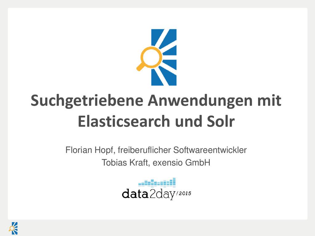 Suchgetriebene Anwendungen mit Elasticsearch un...
