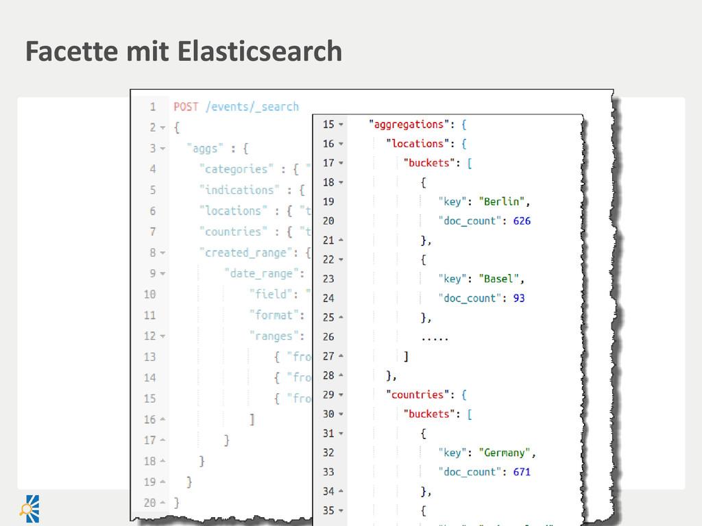 Facette mit Elasticsearch