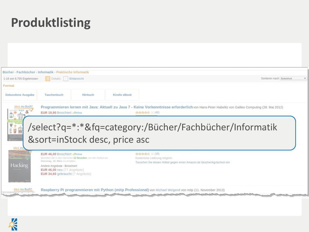 Produktlisting /select?q=*:*&fq=category:/Büche...