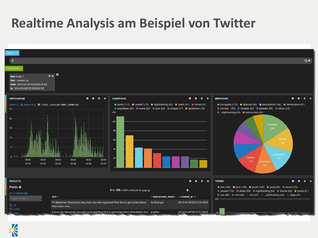 Realtime Analysis am Beispiel von Twitter