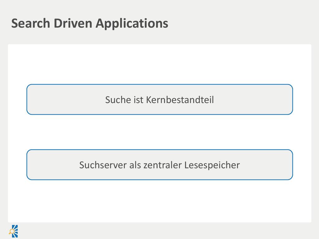 Search Driven Applications Suche ist Kernbestan...