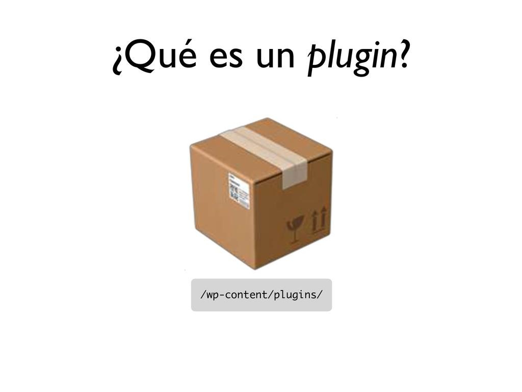 ¿Qué es un plugin?  /wp-content/plugins/