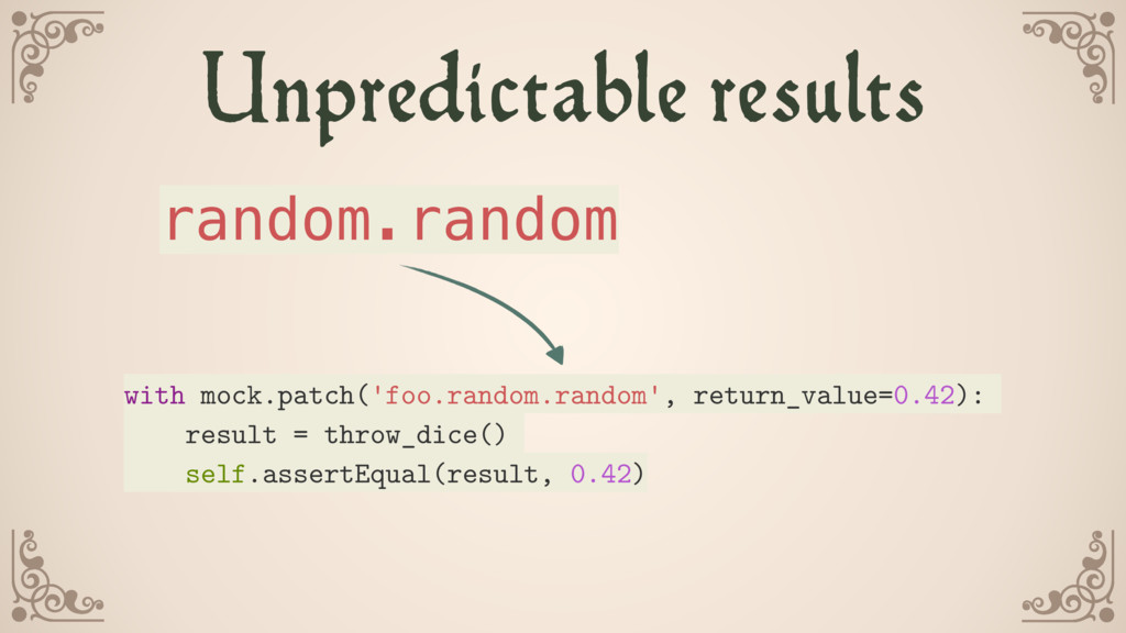 Unpredictable results with mock.patch('foo.rand...