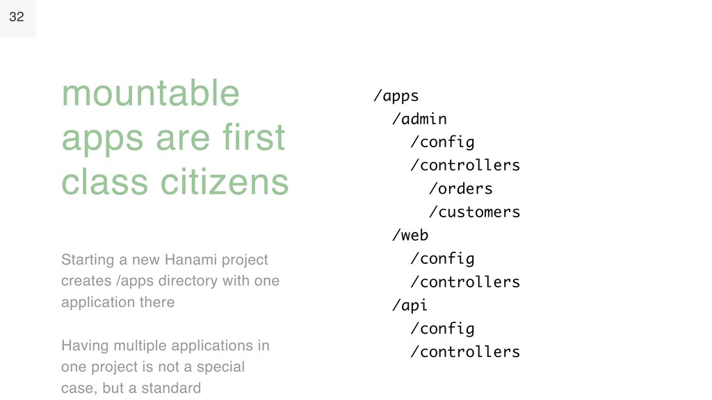 32 Starting a new Hanami project creates /apps ...