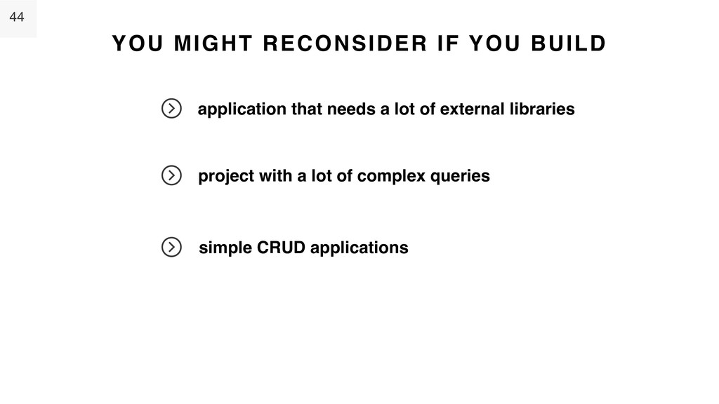 44 YOU MIGHT RECONSIDER IF YOU BUILD applicatio...