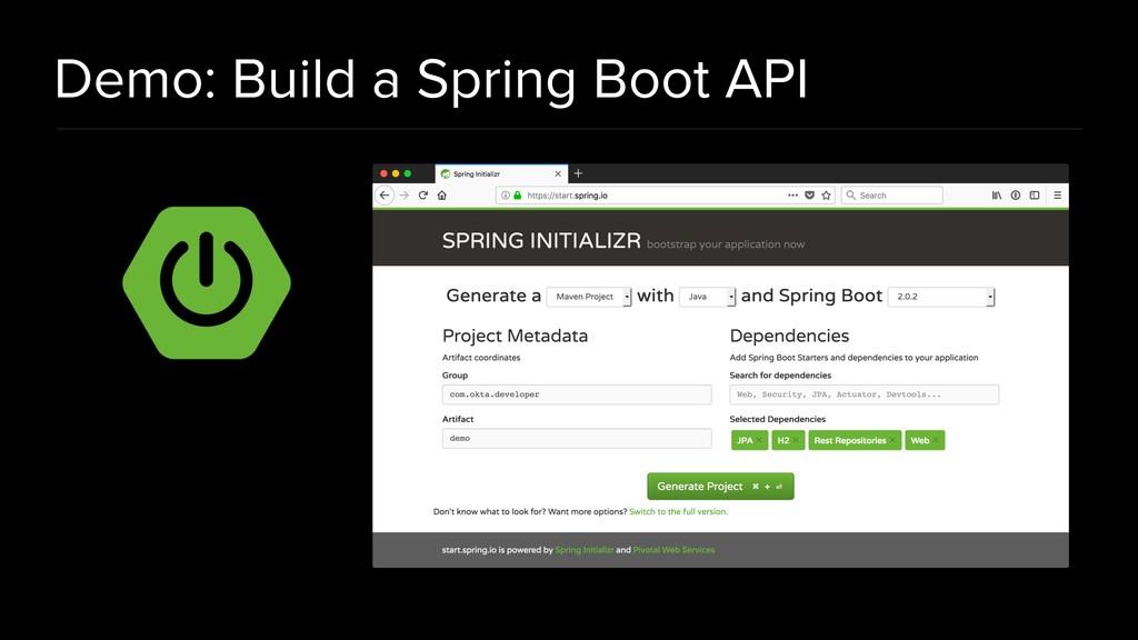 Demo: Build a Spring Boot API