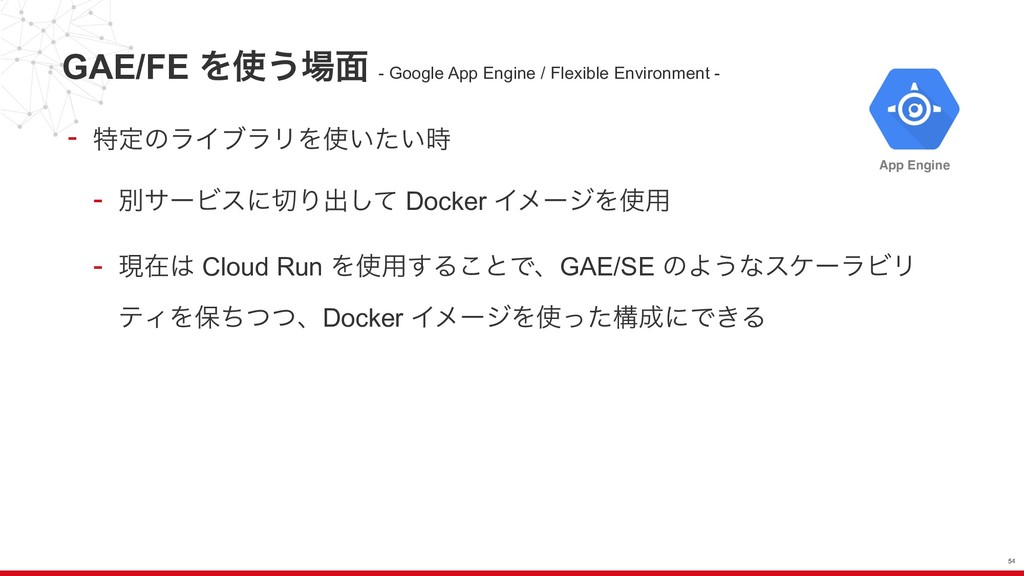 GAE/FE Λ͏໘ - Google App Engine / Flexible Env...
