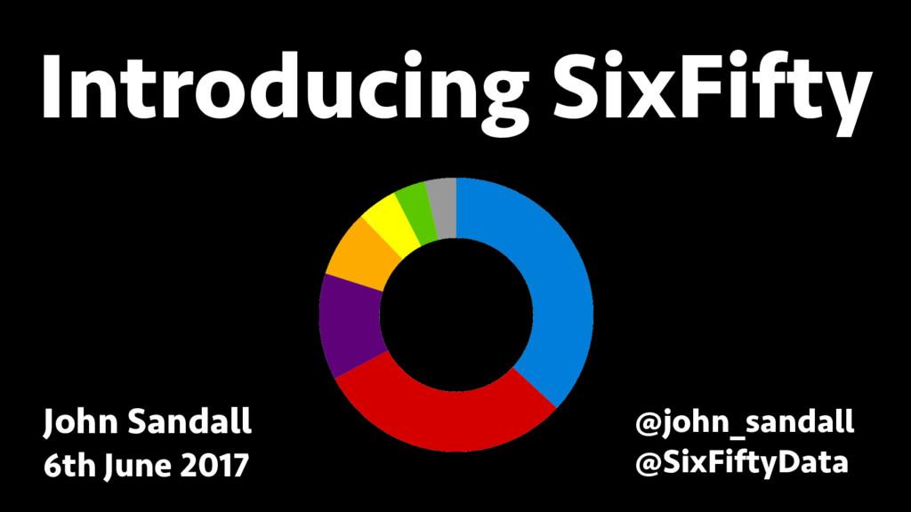 BREAK INTO DATA SCIENCE Introducing SixFifty Jo...