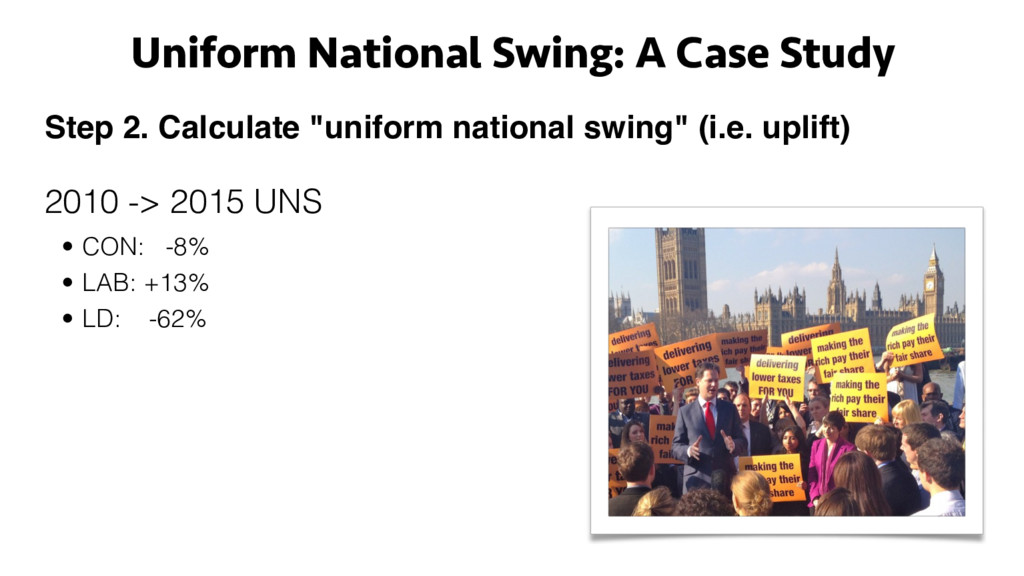 "Step 2. Calculate ""uniform national swing"" (i.e..."
