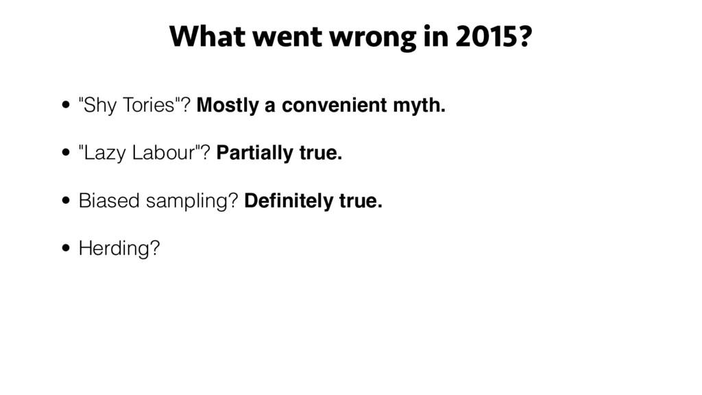 "• ""Shy Tories""? Mostly a convenient myth. • ""La..."