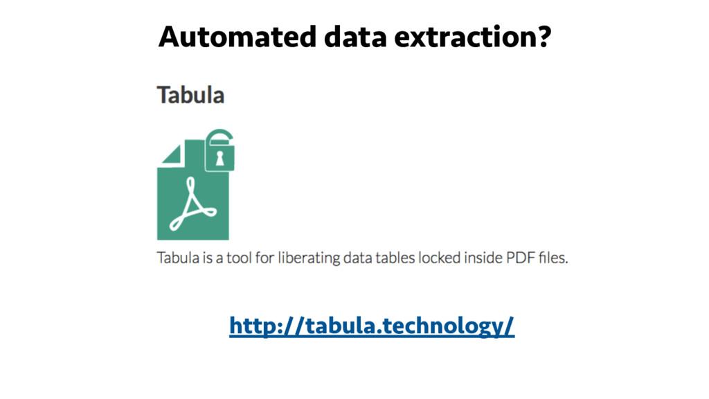 Automated data extraction? http://tabula.techno...