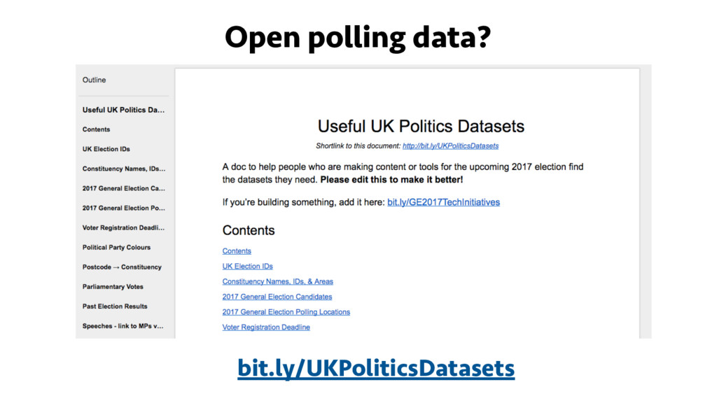 Open polling data? bit.ly/UKPoliticsDatasets