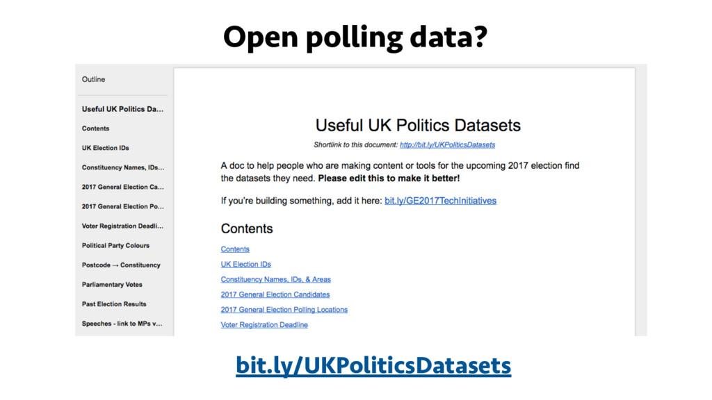 Open polling data? bit.ly/UKPoliticsDatasets