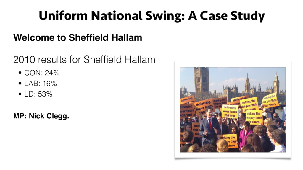 Uniform National Swing: A Case Study Welcome to...