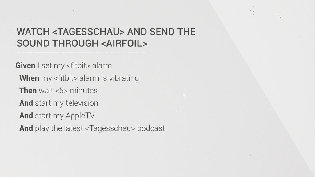WATCH <TAGESSCHAU> AND SEND THE  SOUND THROUGH...