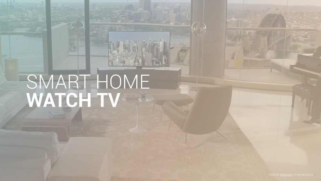 SMART HOME WATCH TV VIDEO BY REDHOOD / CC BY-NC...