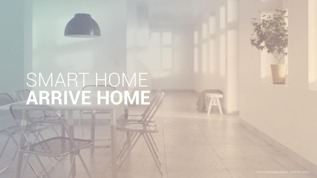 SMART HOME ARRIVE HOME VIDEO BY BERTRAND BENOIT...