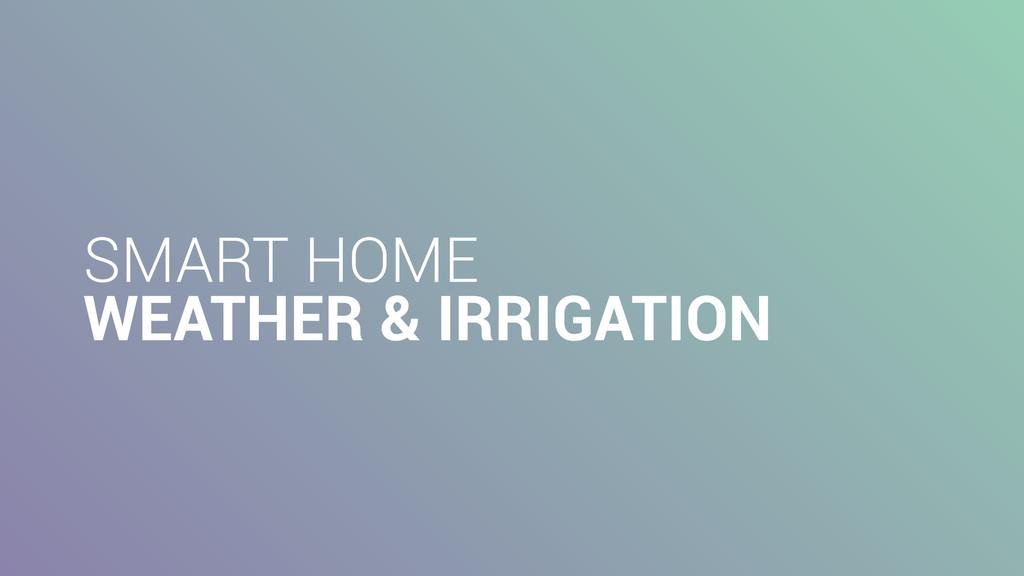 SMART HOME WEATHER & IRRIGATION