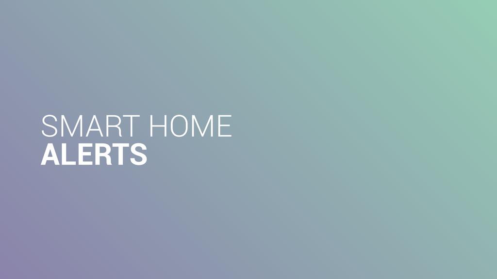 SMART HOME ALERTS