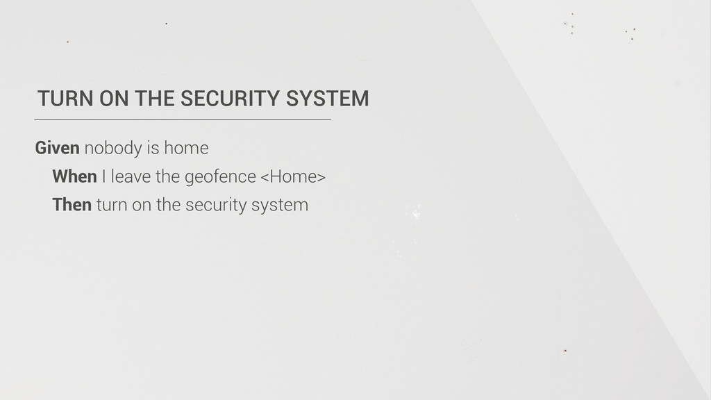 TURN ON THE SECURITY SYSTEM Given nobody is hom...