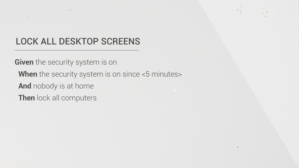 LOCK ALL DESKTOP SCREENS Given the security sys...