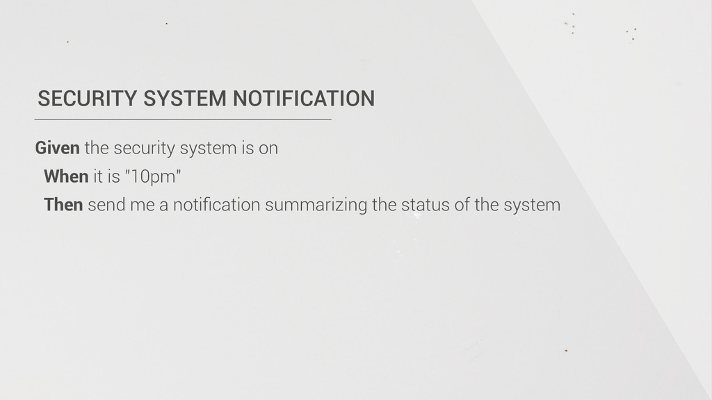 SECURITY SYSTEM NOTIFICATION Given the security...