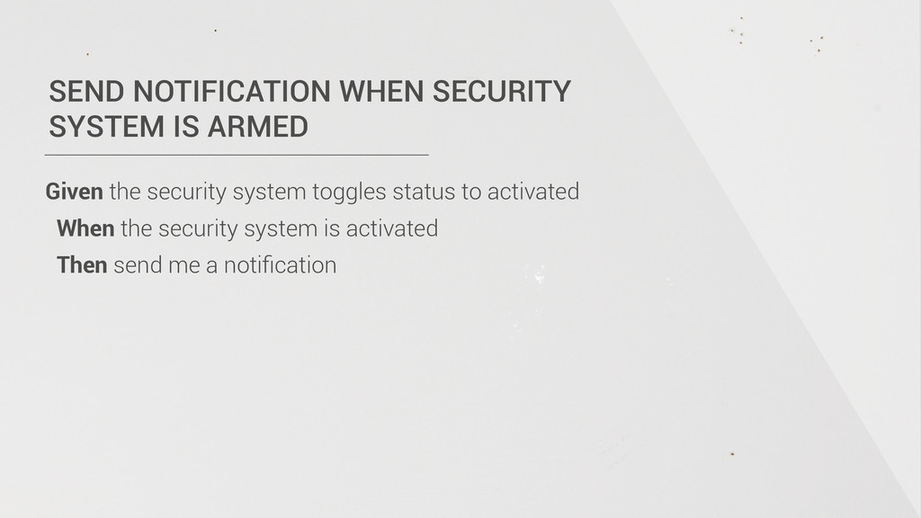 SEND NOTIFICATION WHEN SECURITY  SYSTEM IS ARM...