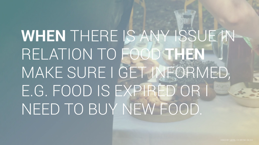 WHEN THERE IS ANY ISSUE IN RELATION TO FOOD THE...