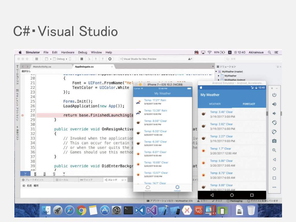 C#・Visual Studio