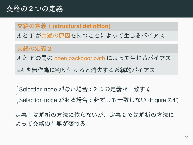 ަབྷͷ 2 ͭͷఆٛ ަབྷͷఆٛ 1 (structural definition) A ͱ Y...