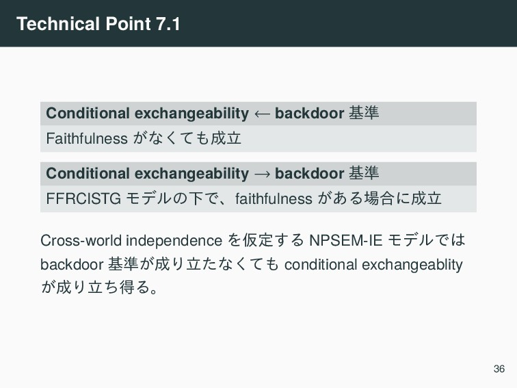 Technical Point 7.1 Conditional exchangeability...