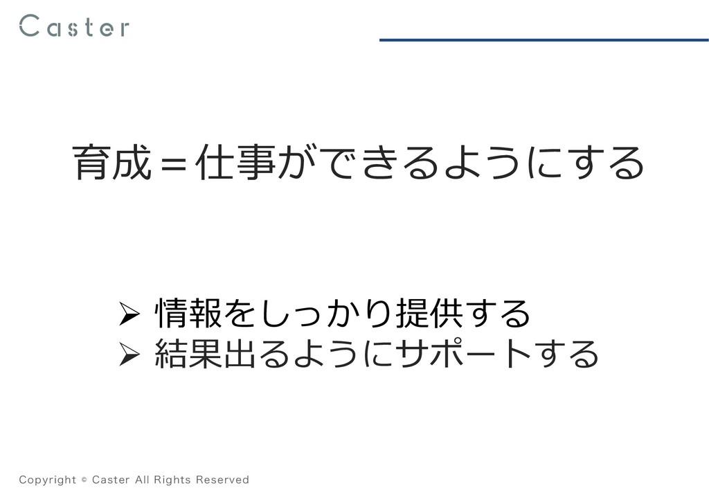 "$PQZSJHIU˜$BTUFS""MM3JHIUT3FTFSWFE 育成=仕事ができ..."