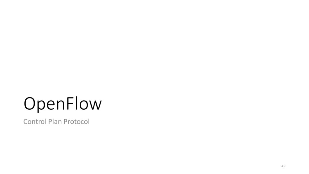 OpenFlow Control Plan Protocol 49