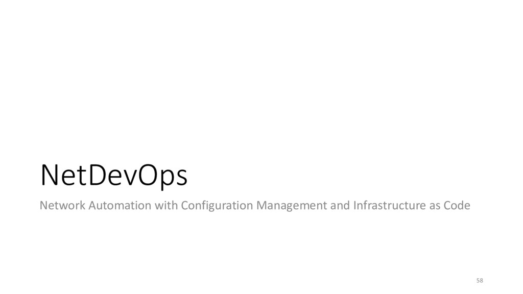 NetDevOps Network Automation with Configuration...