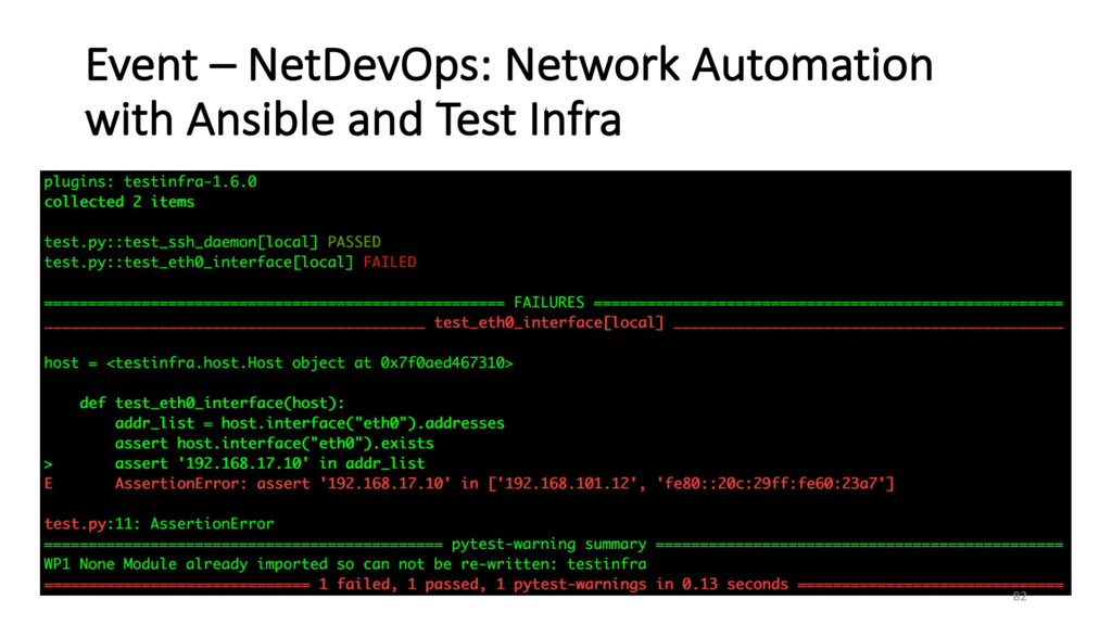 Event – NetDevOps: Network Automation with Ansi...
