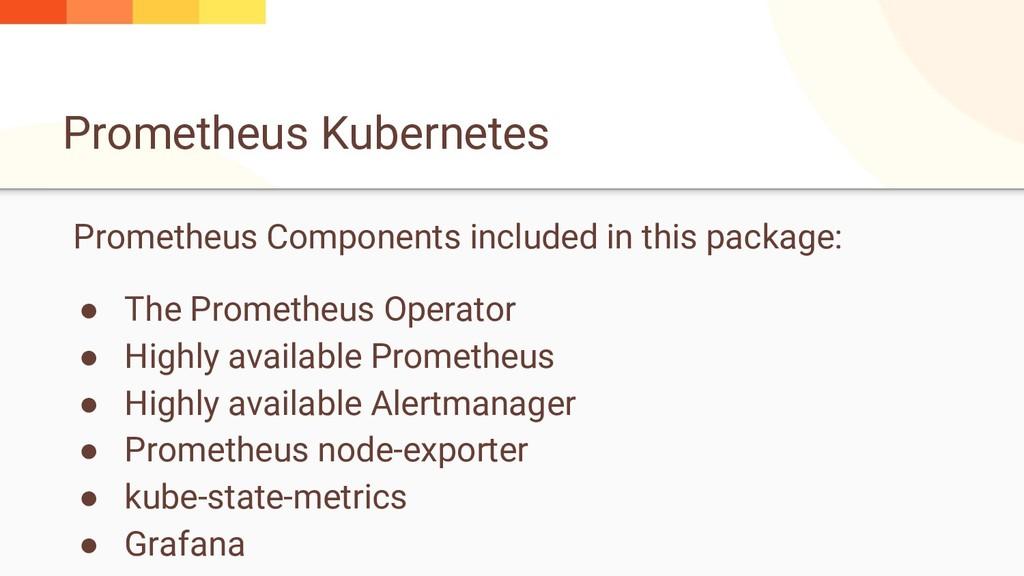 Prometheus Kubernetes Prometheus Components inc...