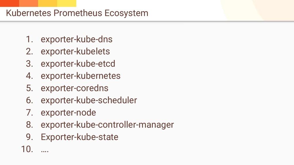 Kubernetes Prometheus Ecosystem 1. exporter-kub...