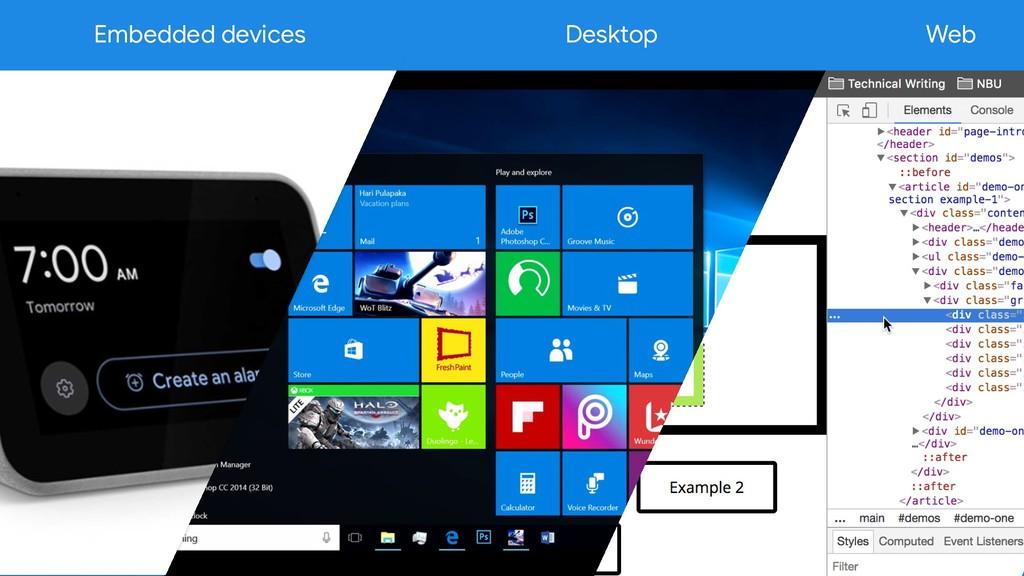 Web Desktop Embedded devices