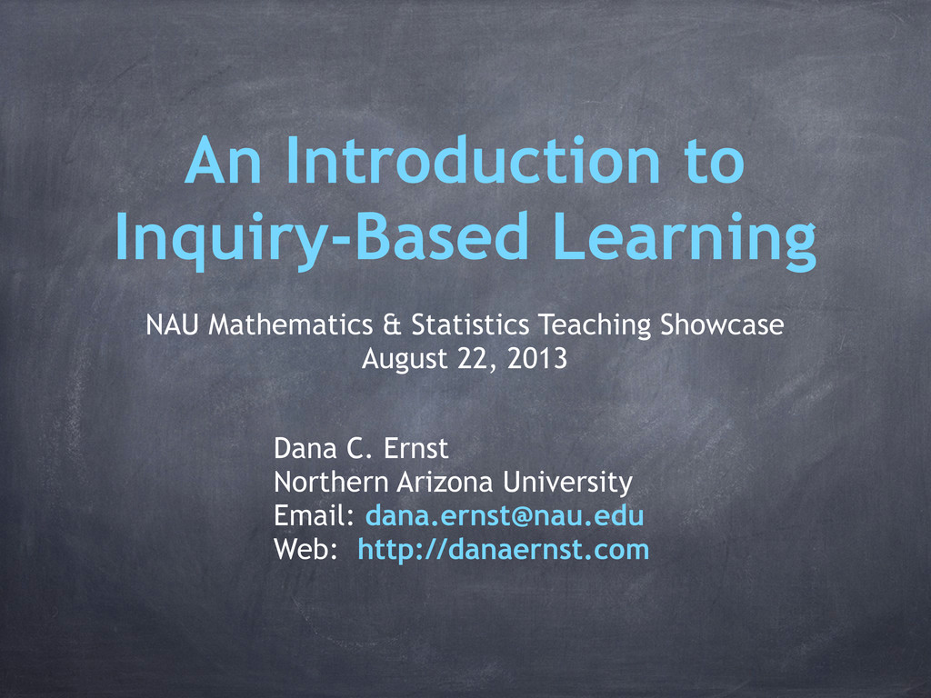 An Introduction to Inquiry-Based Learning NAU M...