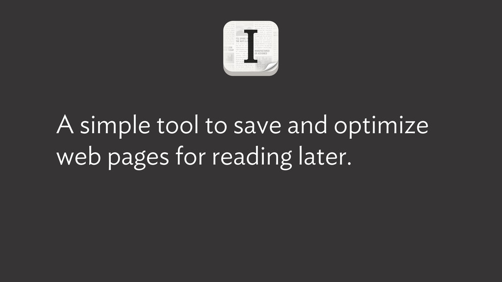 A simple tool to save and optimize web pages fo...