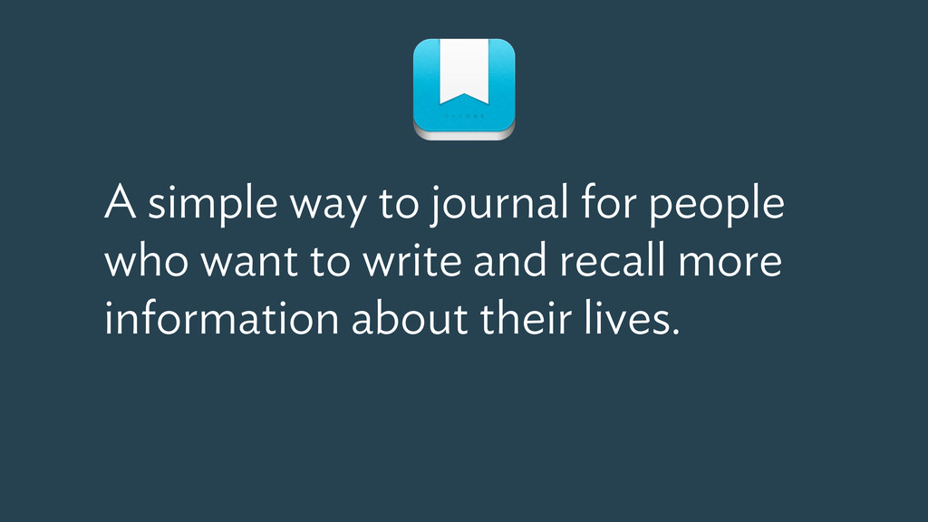 A simple way to journal for people who want to ...