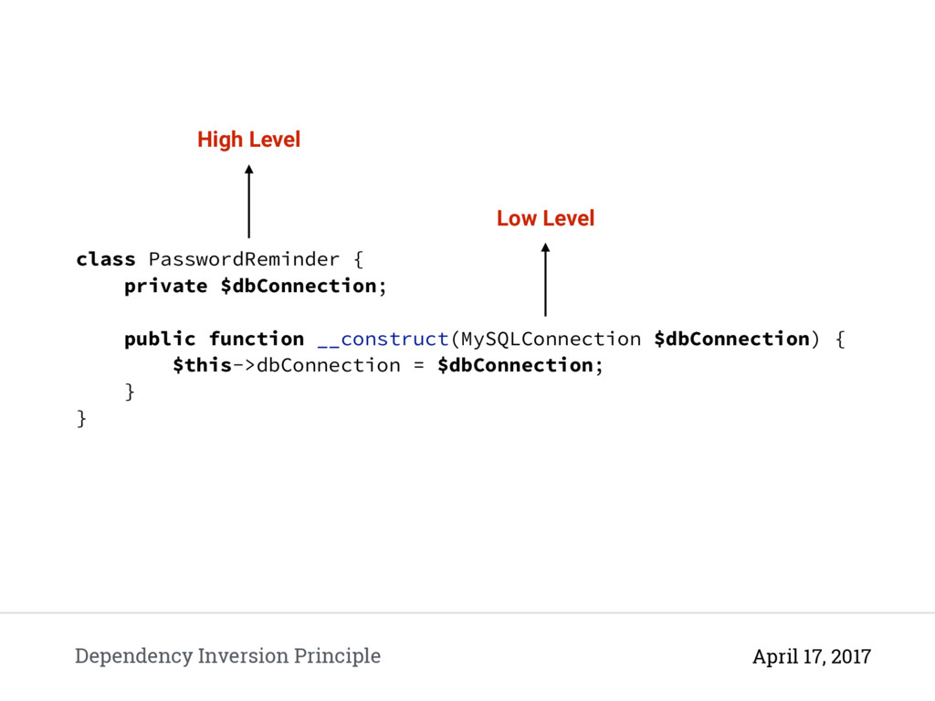 Dependency Inversion Principle April 17, 2017 c...