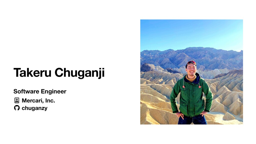 Takeru Chuganji Software Engineer Mercari, Inc....