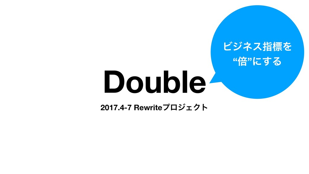 "Double 2017.4-7 RewriteϓϩδΣΫτ ϏδωεࢦඪΛ ""ഒ""ʹ͢Δ"