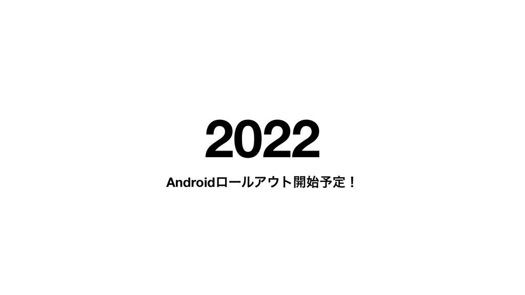 2022 AndroidϩʔϧΞτ։༧ఆʂ