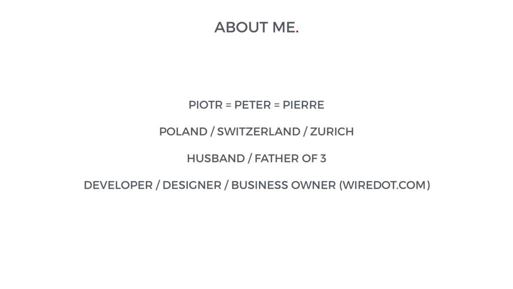 PIOTR = PETER = PIERRE POLAND / SWITZERLAND / Z...