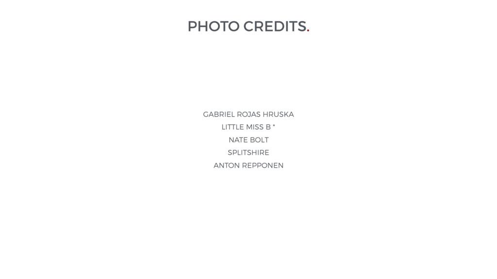 PHOTO CREDITS. GABRIEL ROJAS HRUSKA LITTLE MISS...