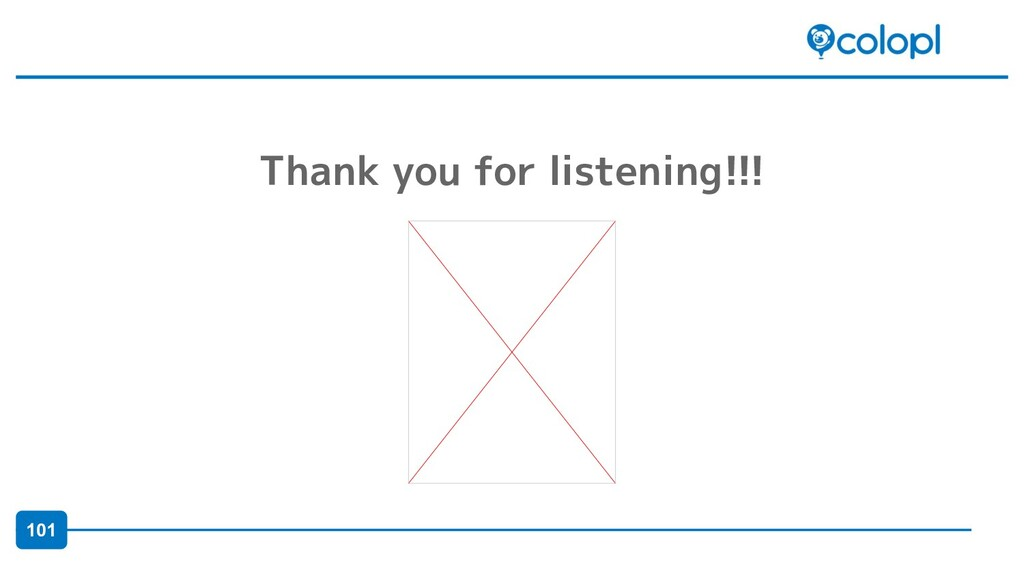 101 Thank you for listening!!!