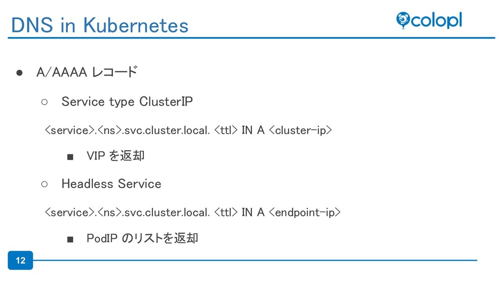 12 ● A/AAAA レコード
